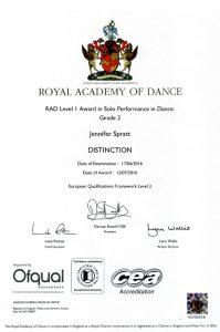RAD Certificate