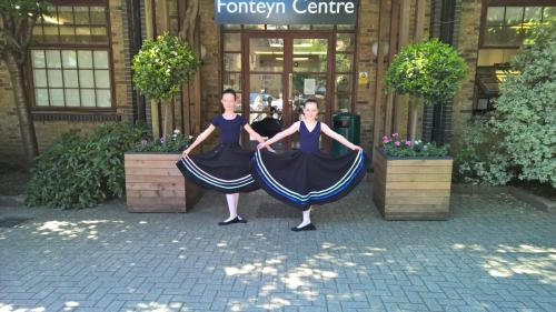 Annie and Cerys at Fonteyn